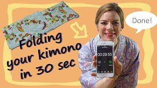 Folding a kimono needs time and space. This way of folding a kimono...