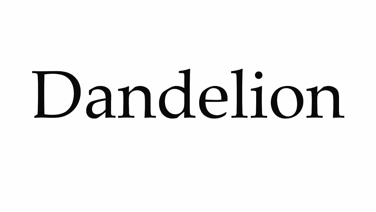 How to Pronounce Dandelion