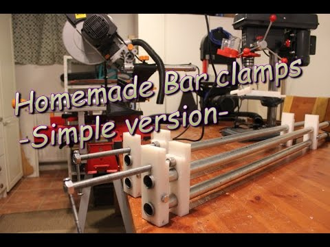 Homemade Bar clamps - simple version-
