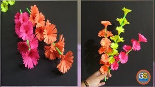 How To Make Beautiful Paper Flower || Diy Craft Ideas For Room || Girish Shanku || Full HD