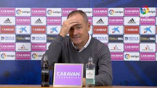 Rueda de prensa de  Víctor Fernández tras el Real Zaragoza vs Albacete BP (0-1)