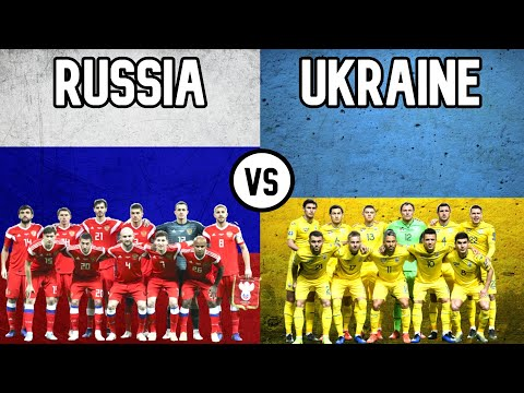 Russia vs Ukraine Football National Teams 2020