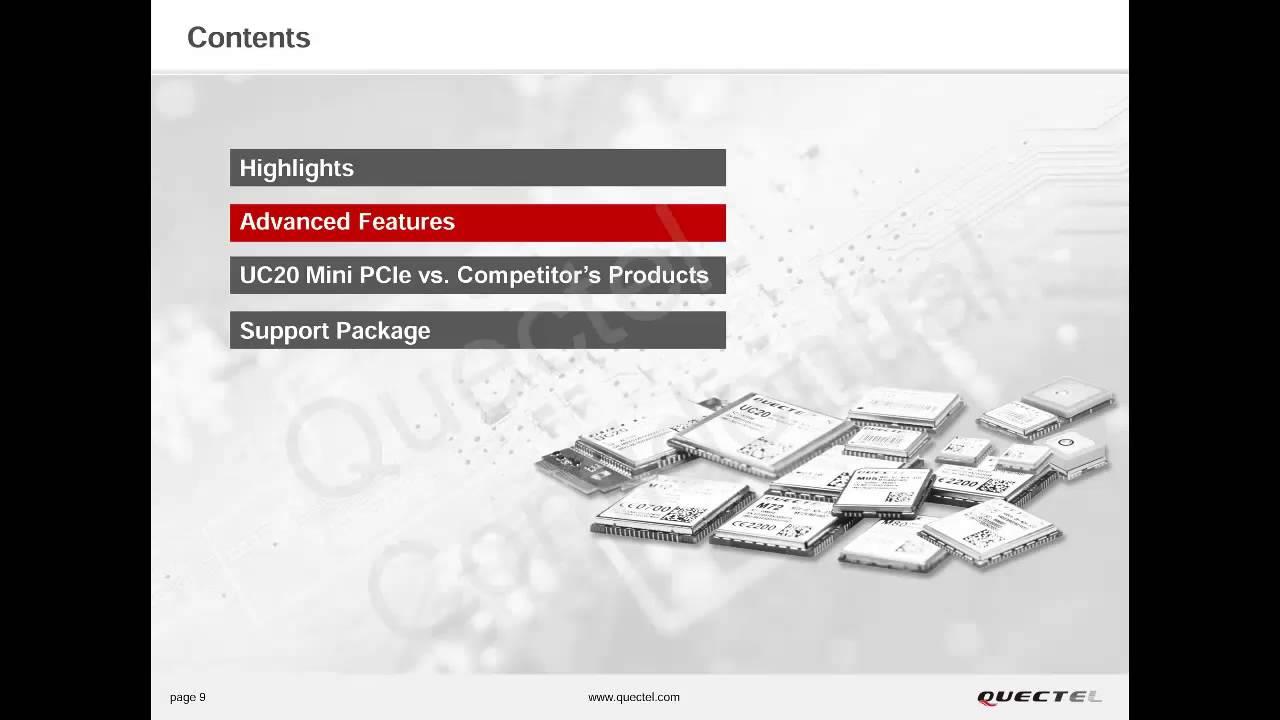 QUECTEL UC20 MINI PCIe Module