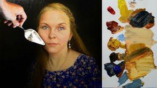 Как заканчивать детали в портрете? Фрагмент 6 часового видео урока.
