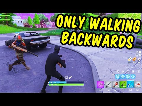 We won only walking backwards - Fortnite Funny Moments thumbnail