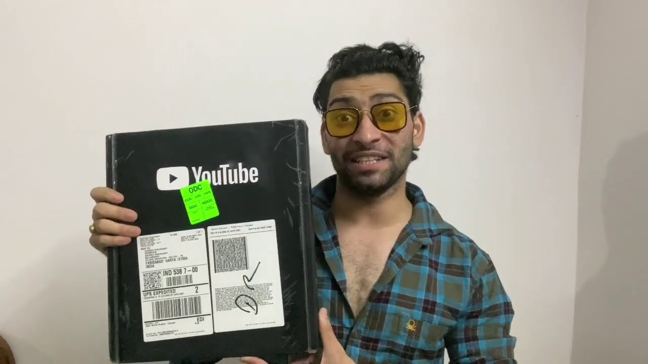 SILVER PLAY BUTTON UNBOXING || GOURAVCH2