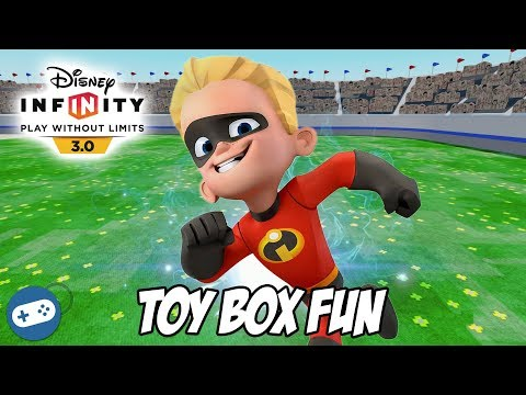 The Incredibles Disney Infinity 3.0 Toy Box Fun Gameplay With Dash
