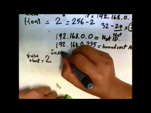 [part 1] วิธีคำนวน IP address / subnet mask เพื่อหา network ID และอื่น ๆ ที่เกี่ยวข้อง (ภาษาไทย)