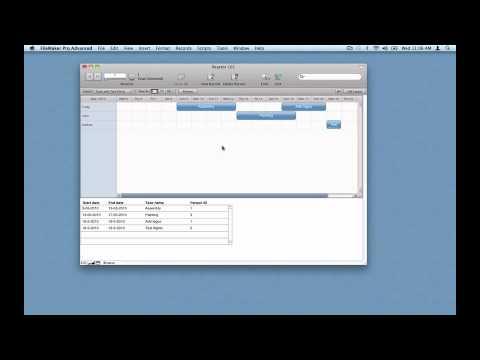 Filemaker Gantt Chart Using Reactor Plugin Part 2 Youtube
