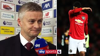 Solskjær confirms extent of Rashford's back injury | Liverpool 2-0 Man Utd Post Match