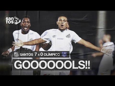 SANTOS 7 X 0 OLÍMPICO | GOLS | COPA SP (06/01/20)