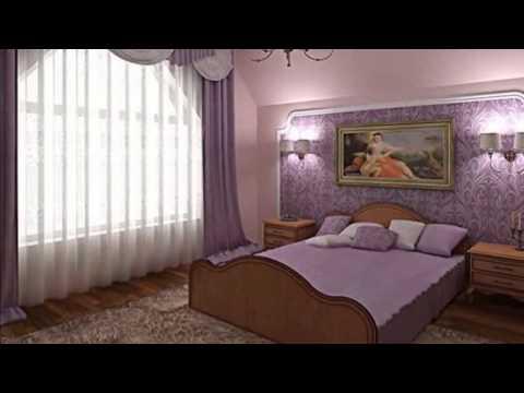 Красивые обои в интерьере спальни