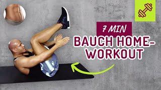 🔥 7 min Bauchworkout für Zuhause 🔥 Sixpack Training 👏🏽