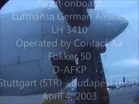 THE SIGHT & THE SOUND 1/2 : Contact Air F-50 D-AFKP documentary from Stuttgart to Budapest