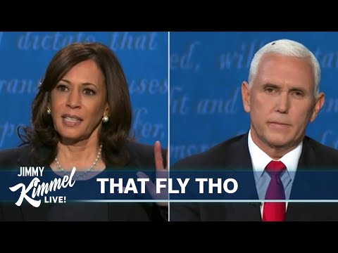 Jimmy Kimmel Breaks Down Pence Harris VP Debate