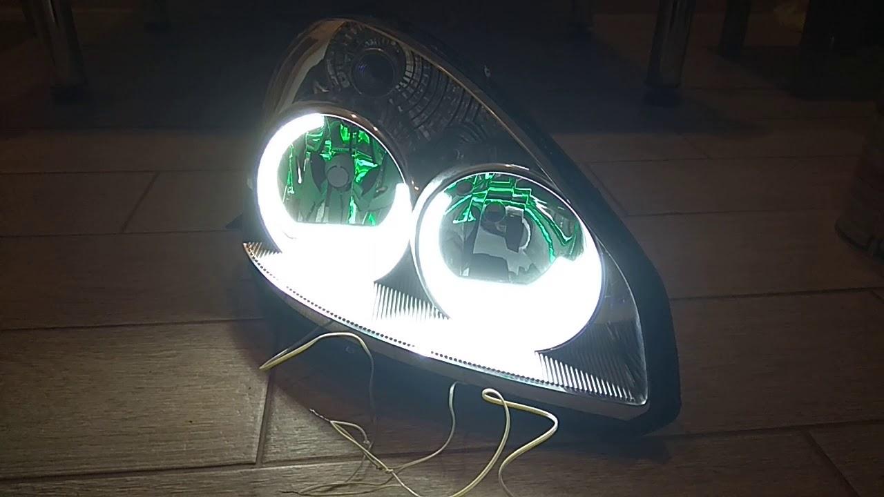 Ангельские глазки Lada Priora  с контроллером ДХО.