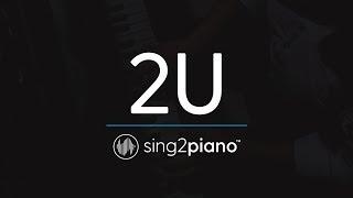 Video 2U [Piano Karaoke Instrumental] David Guetta & Justin Bieber download MP3, 3GP, MP4, WEBM, AVI, FLV Februari 2018