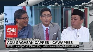 Perdebatan Rocky Gerung vs Nusron Wahid soal Debat Capres Jokowi & Prabowo