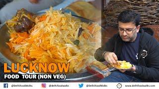 LUCKNOW Non Vegetarian FOOD Tour - Kulcha Nahari + BEST Kebabs - Ghutwa, Galawti, Shami + Biryani