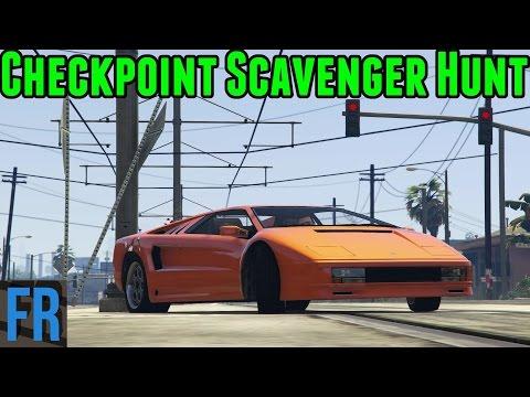 Gta 5 Challenge - Checkpoint Scavenger Hunt