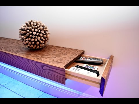 Build a Huge Floating Shelf With a Hidden Storage Compartment
