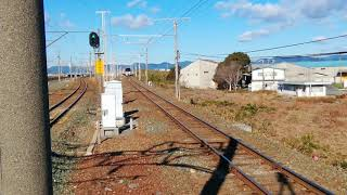 名鉄1200系旧塗装船町駅通過