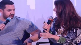 Aamir Khan gets INSULTED by Twinkle Khanna @ Mrs FunnyBones BOOK LAUNCH