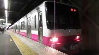 新京成8900形(ジェントルピンク色)8918F 高根木戸駅発車
