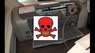 Промывка печатающей головки Epson Stylus Photo R220(Epson R220 через 8 лет простоя Промывка печатающей головки обычной водой Чистка и восстановление печатающей..., 2015-08-23T05:00:14.000Z)