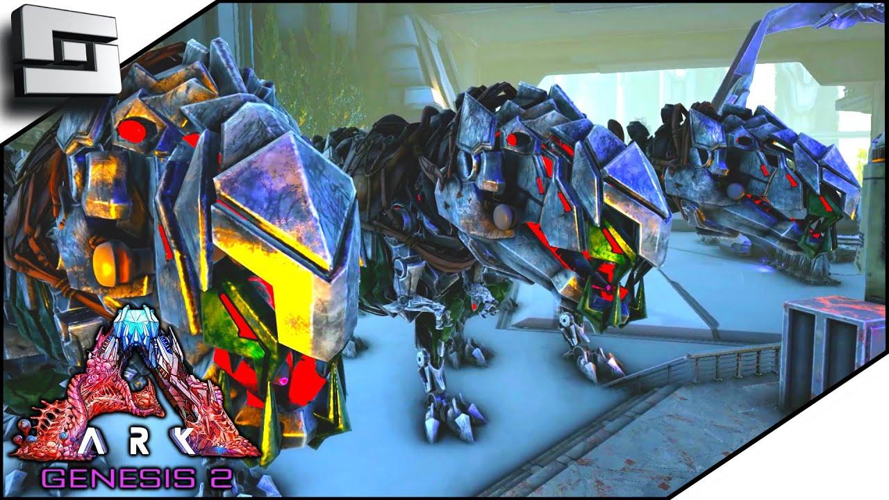 Breeding High Level The Tek Rex In Ark Genesis 2! E25