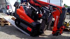 The HUSQVARNA DXR 140 demolition robot will go to the VW Transporter