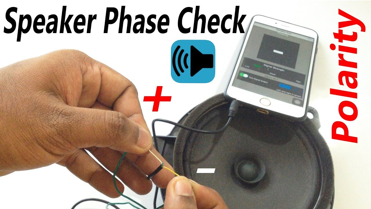 Speaker Polarity Phase Check Using Pop Iphone App Youtube Wiring