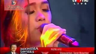 "Tasya, Putri Ayu ft Lisa Mae covering ""Angel"" #nyalauntukyuyun"