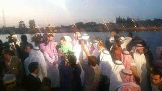 قناة السويس الجديدة : وفد رجال الاعمال السعوديين على معدية نمرة 6 فى قناة السويس