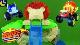 NEW Blaze and the Monster Machines Toys Animal Island Stunts Speedway Playset Wild Wheels Lion Blaze