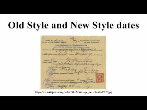 Old Style and New Style dates