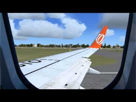 FSX - 737 PMDG Takeoff from Guarulhos (REAL SOUNDS!)