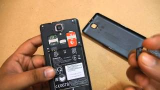 Lenovo A536 - How to insert Simcard, SD card and Battery in Lenovo A536