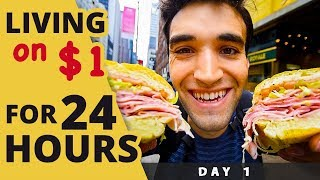 LIVING on  for 24 HOURS in NYC! (Day #1)