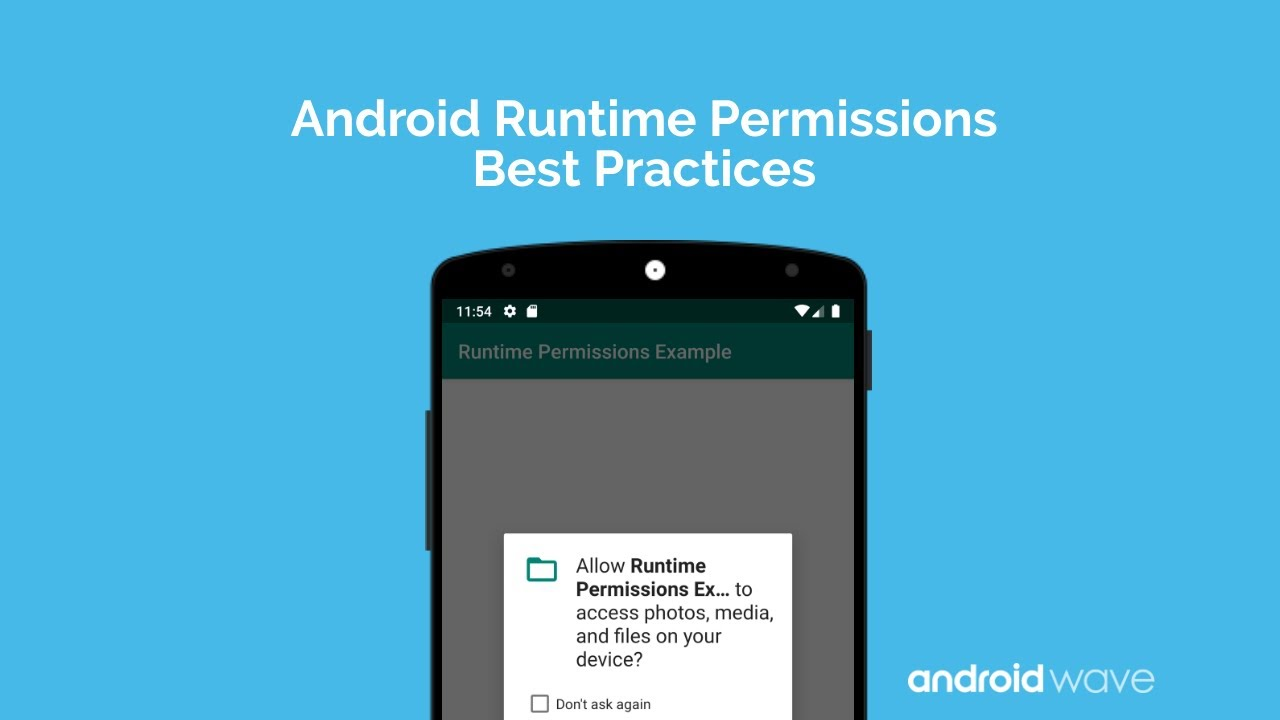 Android Permission Write_External_Storage best practices of runtime permissions android - androidwave