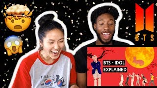 BLASIAN COUPLE REACTS TO BTS - 'IDOL' EXPLAINED BY A KOREAN | REACTION