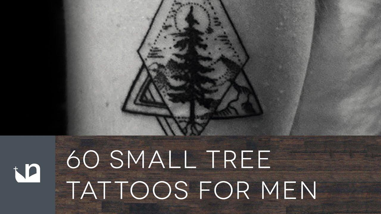 Christmas Tree Tattoo Ideas.60 Small Tree Tattoos For Men