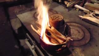 Экономим дрова и уголь, топим просеянным углем.