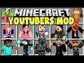 Minecraft YOUTUBERS MOD | POPULARMMOS, PRESTONPLAYZ, SSUNDEE, DANTDM!!