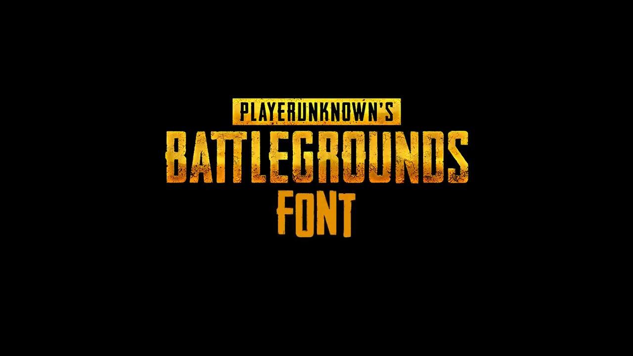 Download PLAYERUNKNOWN'S BATTLEGROUNDS Font