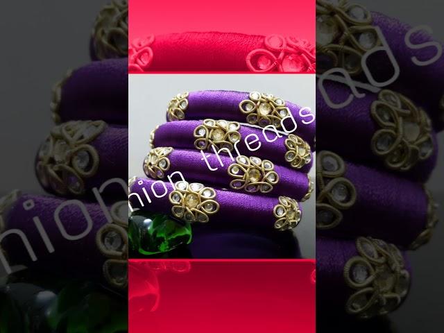 75 sets of silk thread bangles - designer bangles - different model bangle sets - party wear sets