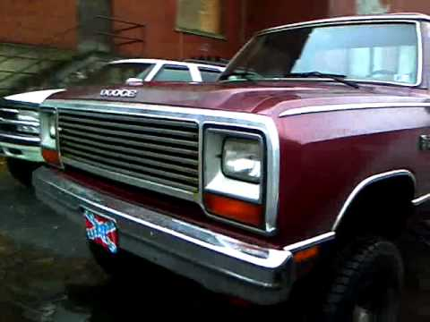Dodge Ram Lifted >> 1985 dodge w150 lifted built 360 - YouTube