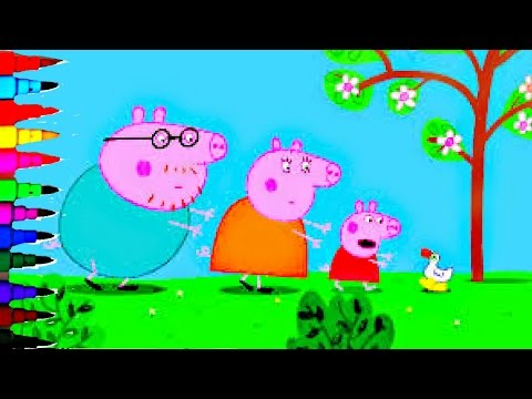 Peppa Pig Ducks Coloring Book Pages Kids Fun Art Activities Rainbow Color Compilation Kids Videos
