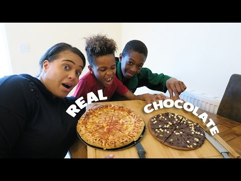 REAL PIZZA VS CHOCOLATE PIZZA!!