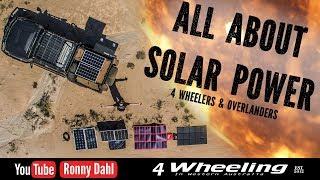 SOLAR POWER 4x4 Overlander, tips advice
